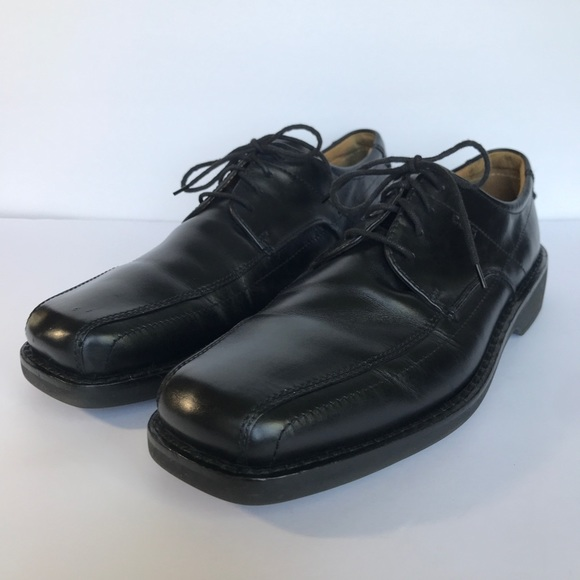 992a300d Ecco Light Shock Point Black Leather Oxford Shoes